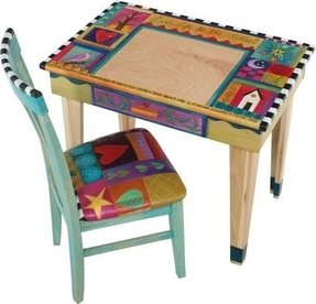 Hand painted childrens table and chairs foter - Hand painted furniture ideas ...