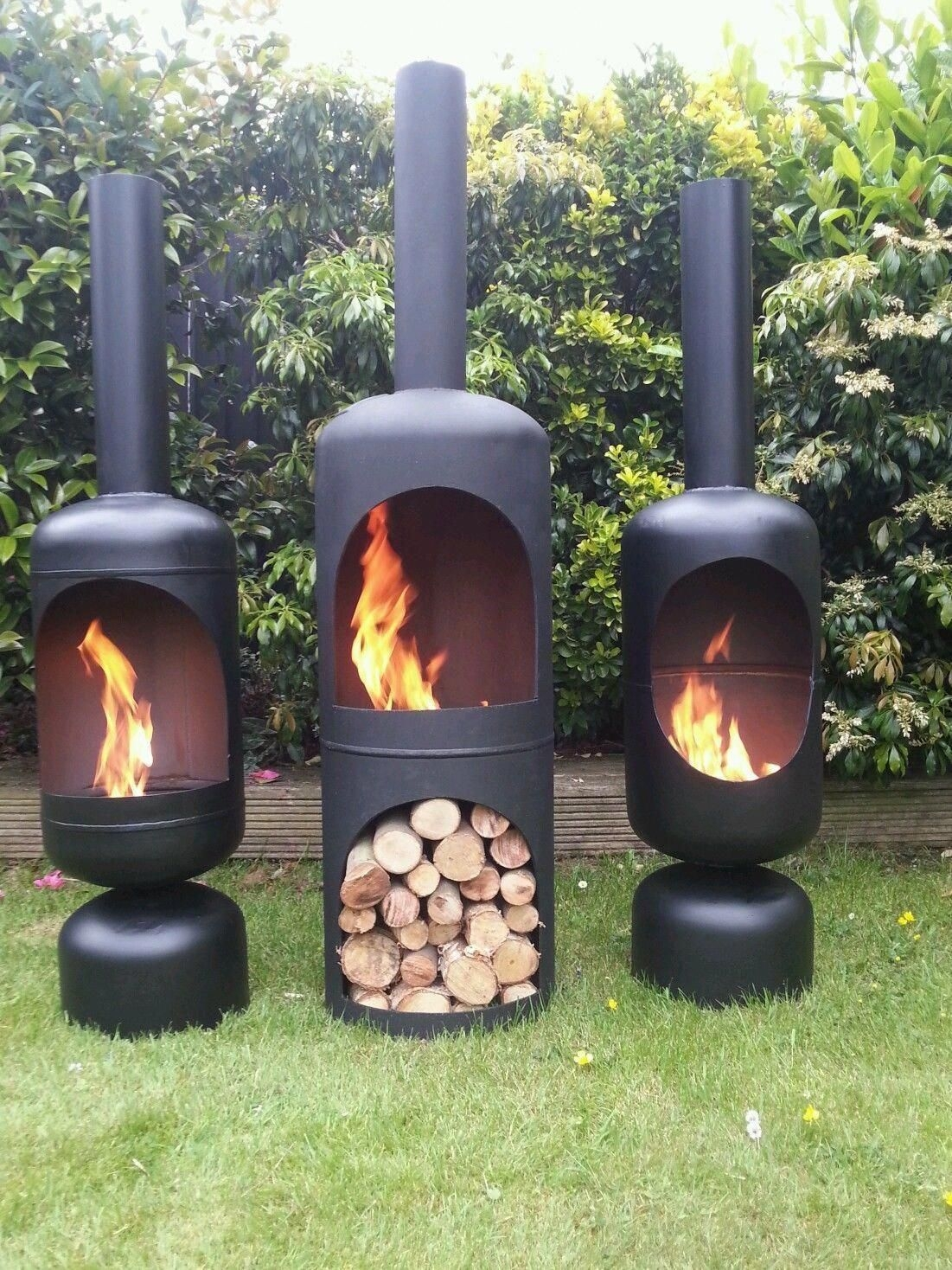 Gas Bottle Wood Log Burner Chiminea Camping Fishing Yurt Fire Pit