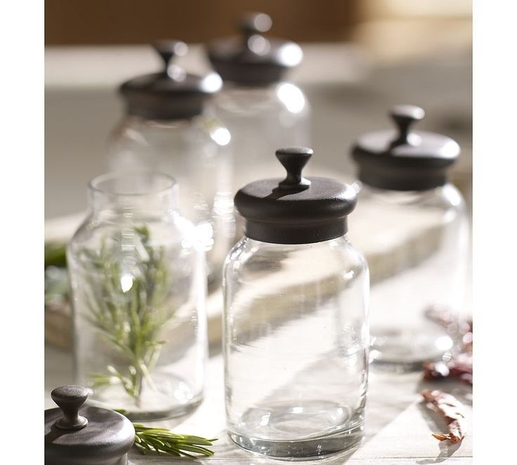Glass metal spice jars