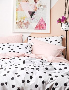 Gold polka dot sheets