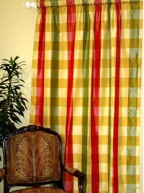 Green Red And Yellow Check Valances Home O Curtains