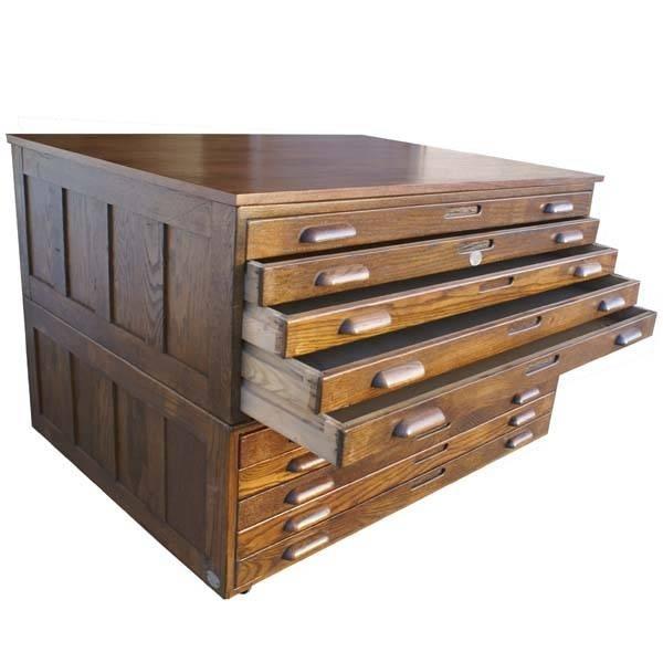 Incroyable Hamilton Oak Flat File Cabinets From Metro Retro Furniture