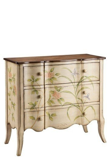 Merveilleux Hand Painted Chest Of Drawers