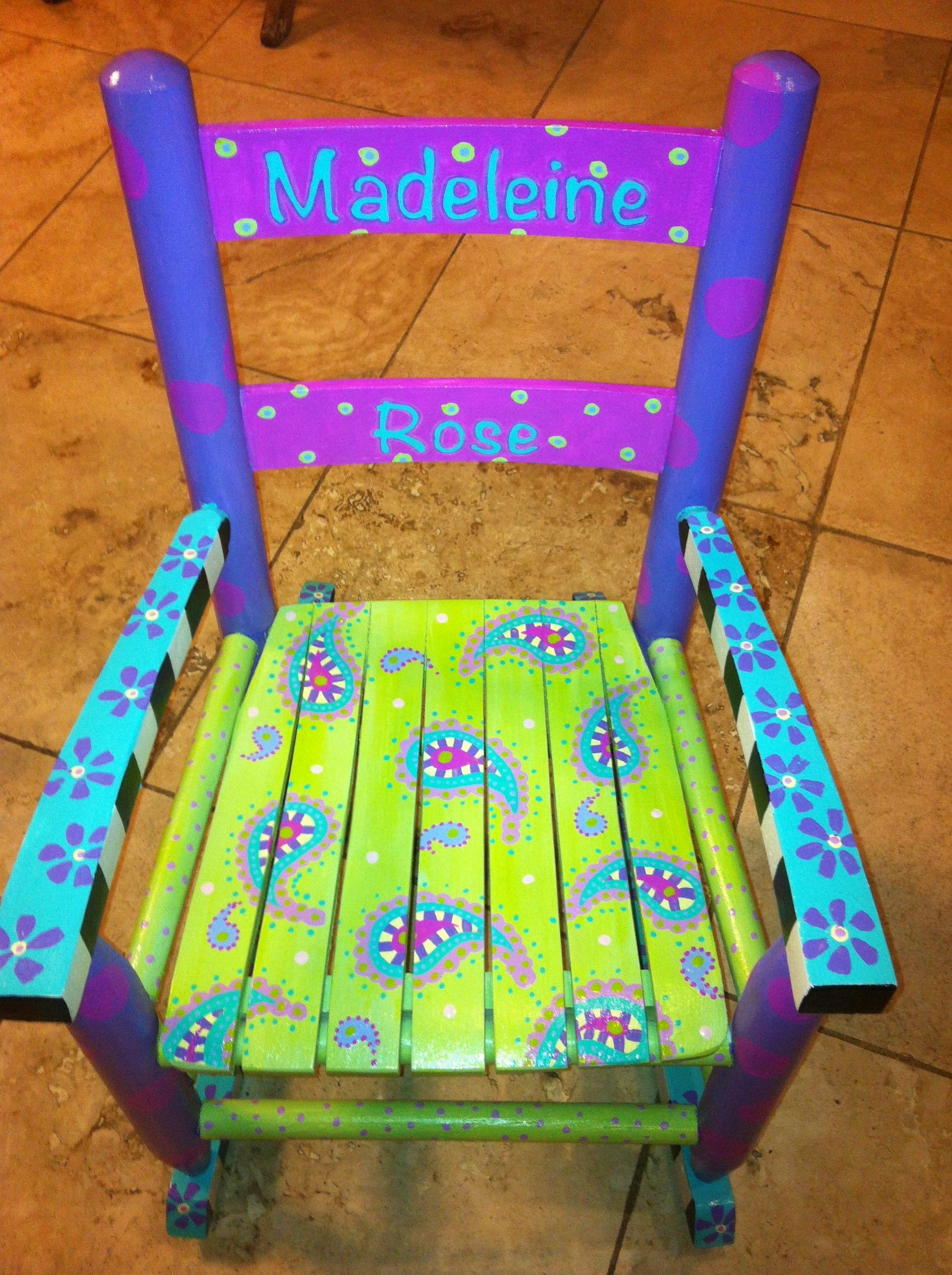 Hand Painted Childrens Furniture Hand Painted Rocking Chair Madeleine Rose