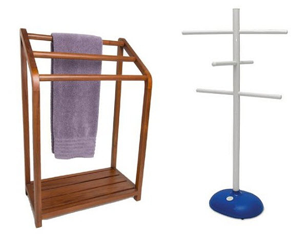 Hot Tubs %2526 Outdoor Spas Spa Teak Towel Stand In Natural
