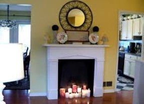 Fantastic Fake Wall Fireplace Ideas On Foter Complete Home Design Collection Epsylindsey Bellcom