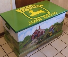 John deere custom toy box