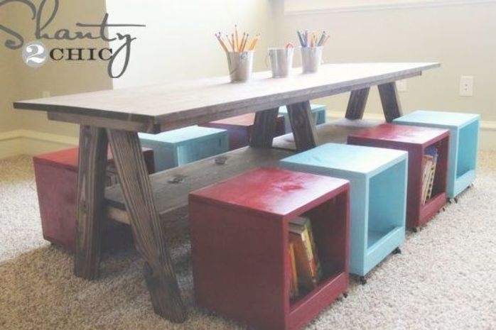 Beau Kids Table And Chairs Wood
