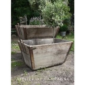 Large Galvanized Metal Planters