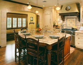 Granite Kitchen Island With Seating Foter - Large kitchen island with seating and storage