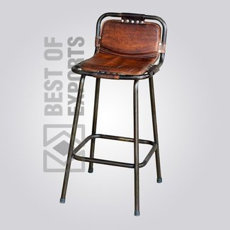 Leather rustic bar stools 1