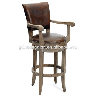 Leather rustic bar stools 5