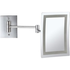 Lighted makeup mirror wall mount battery operated foter led light wall mounted makeup mirror aloadofball Choice Image