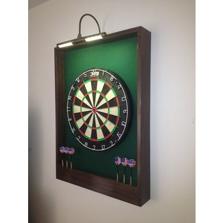 Lighted Red Black Trim Dart Board