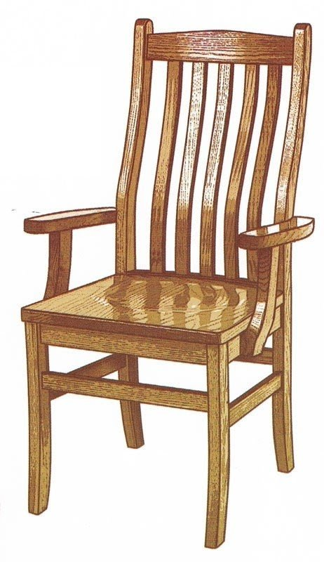 Exceptionnel Lincoln Arm Chair. Wood Armchairs