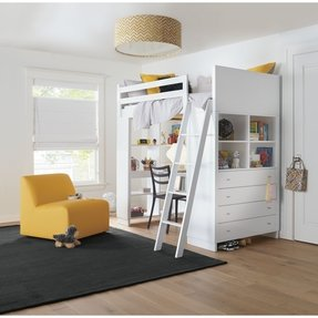Loft bed with desk and dresser 2