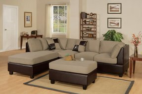 Microfiber sectional sofa with ottoman 5