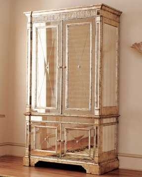 Mirrored armoire wardrobe