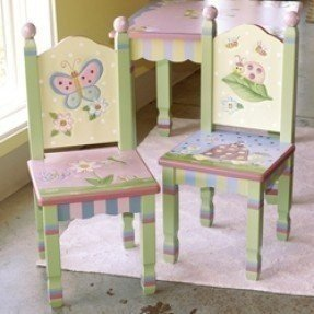 Painted Childrens Table And Chairs