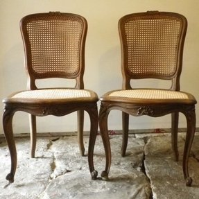 Pair french cane chairs l french cane chair 2 jpg