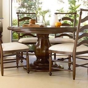 Paula Deen Pedestal Dining Table - Foter