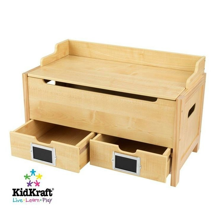 Personalized wooden toy chest