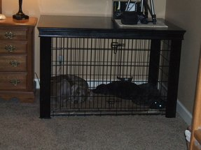 Pet crate table 2