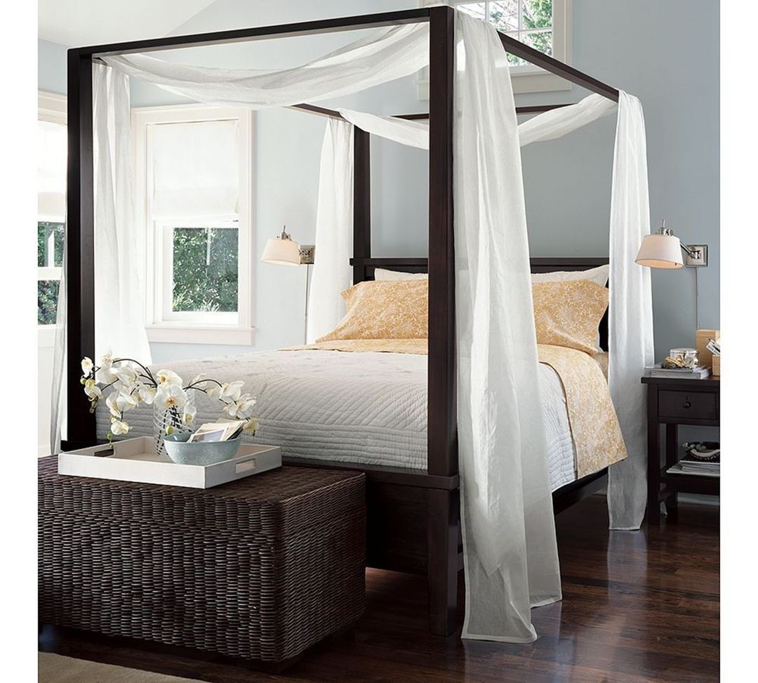 Platform canopy bed frame & Four Post Canopy Bed Frame - Foter