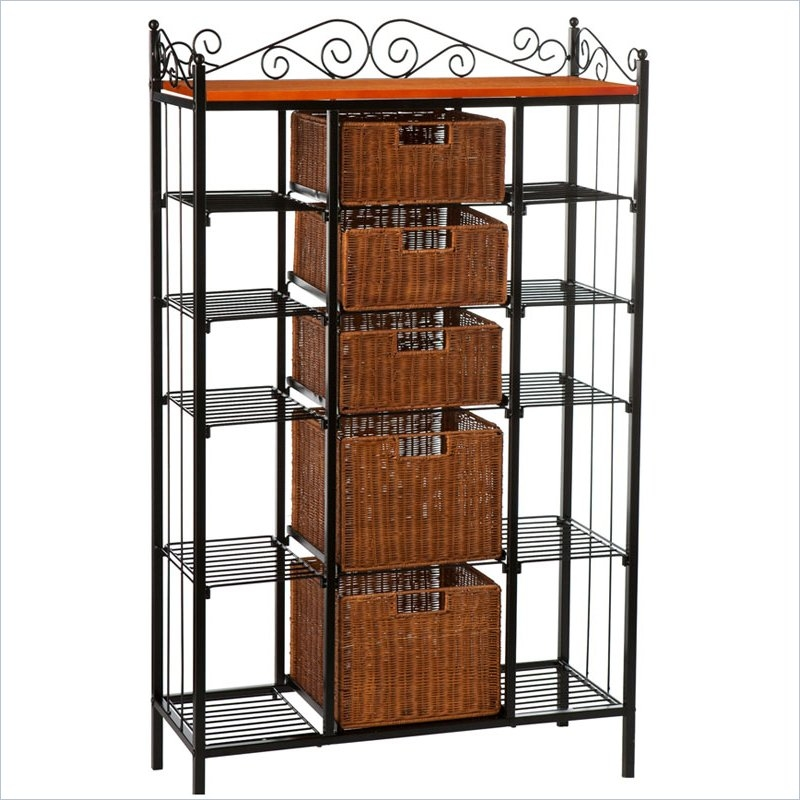 Rancho 5 drawer baker s rack contemporary clothes racks