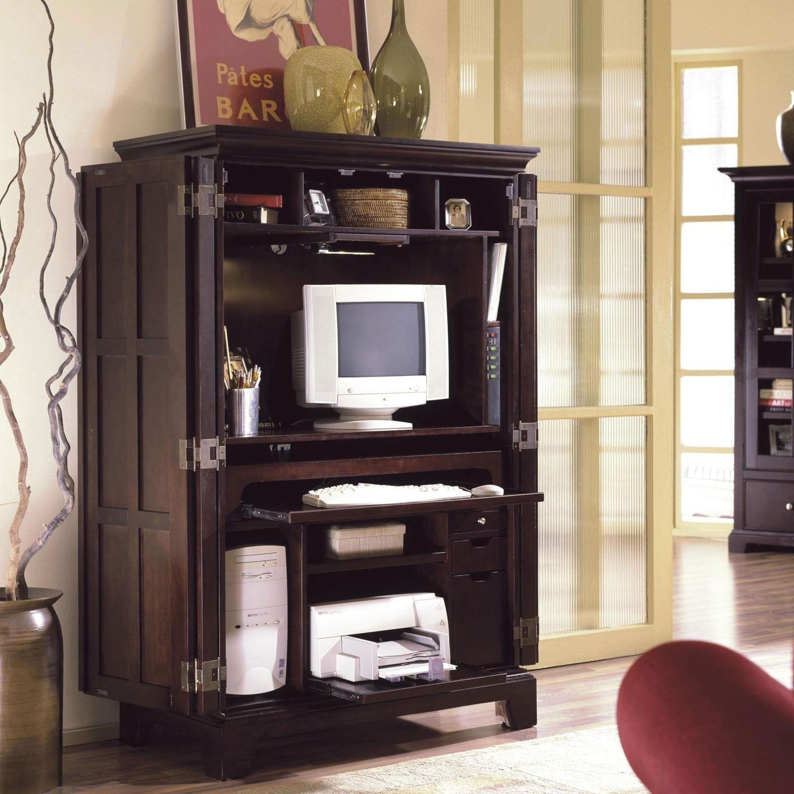 Merveilleux Riverside Computer Armoire