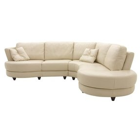 Round leather sectional 13