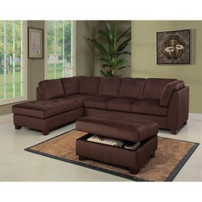 Round leather sectional 2