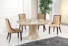 Round Marble Dining Table Set - Foter