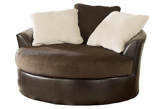 Captivating Round Swivel Cuddle Chair