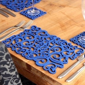 Royal blue placemats