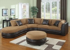 Sectional with large ottoman