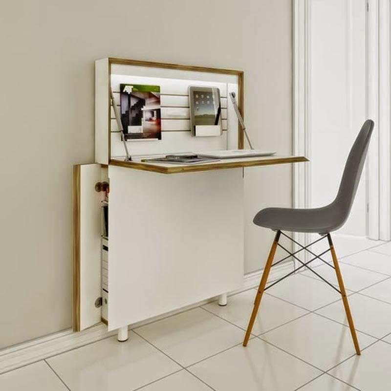 amazing small secretary desk for small spaces foter rh foter com Small Office Desk Ideas Modern Desks for Small Spaces