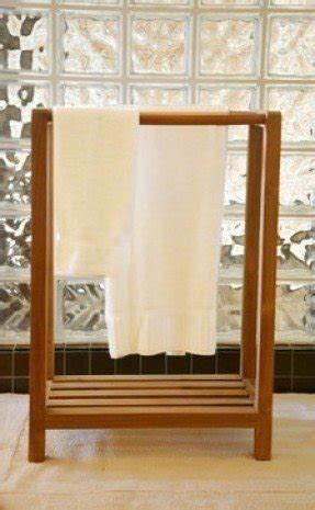 Teak Towel Stand For Bathroom Or Spa Modern Towel Bars And Hooks Other Metro