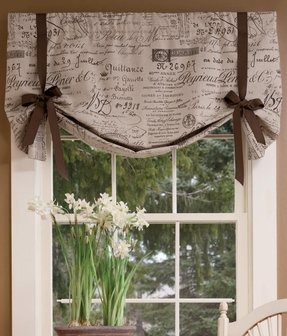 A Stylish And Cute Way To Improve Your Kitchen Window Making The Whole Interior More Adorable This Fashionable Tie Up Valance Is Made Of