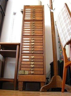 Flat file cabinets foter vintage flat file cabinet malvernweather Choice Image