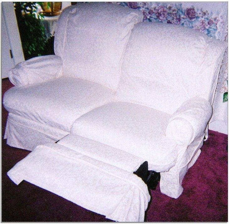 Delightful White Recliner Slipcover 13