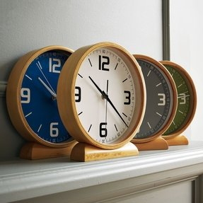 Wood colored clocks