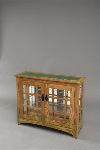Amish Mission Style Small Console Curio Cabinet 1