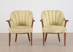 Antique barrel chairs
