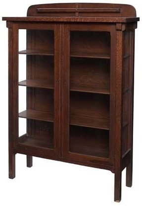 Oak Bookcases With Gl Doors Ideas