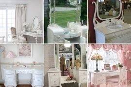 Antique White Bedroom Vanity