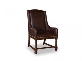 Art Furniture Dining Room Leather Arm Chair Barrel Oak 205200
