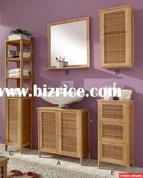 Bamboo shelves bathroom