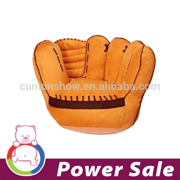 A Chair For Kids Inspired By Beloved Sport Of American People Will  Encourage Your Child To Rest. Traditional Orange Color, Leather Baseball  Glove   Is A ...