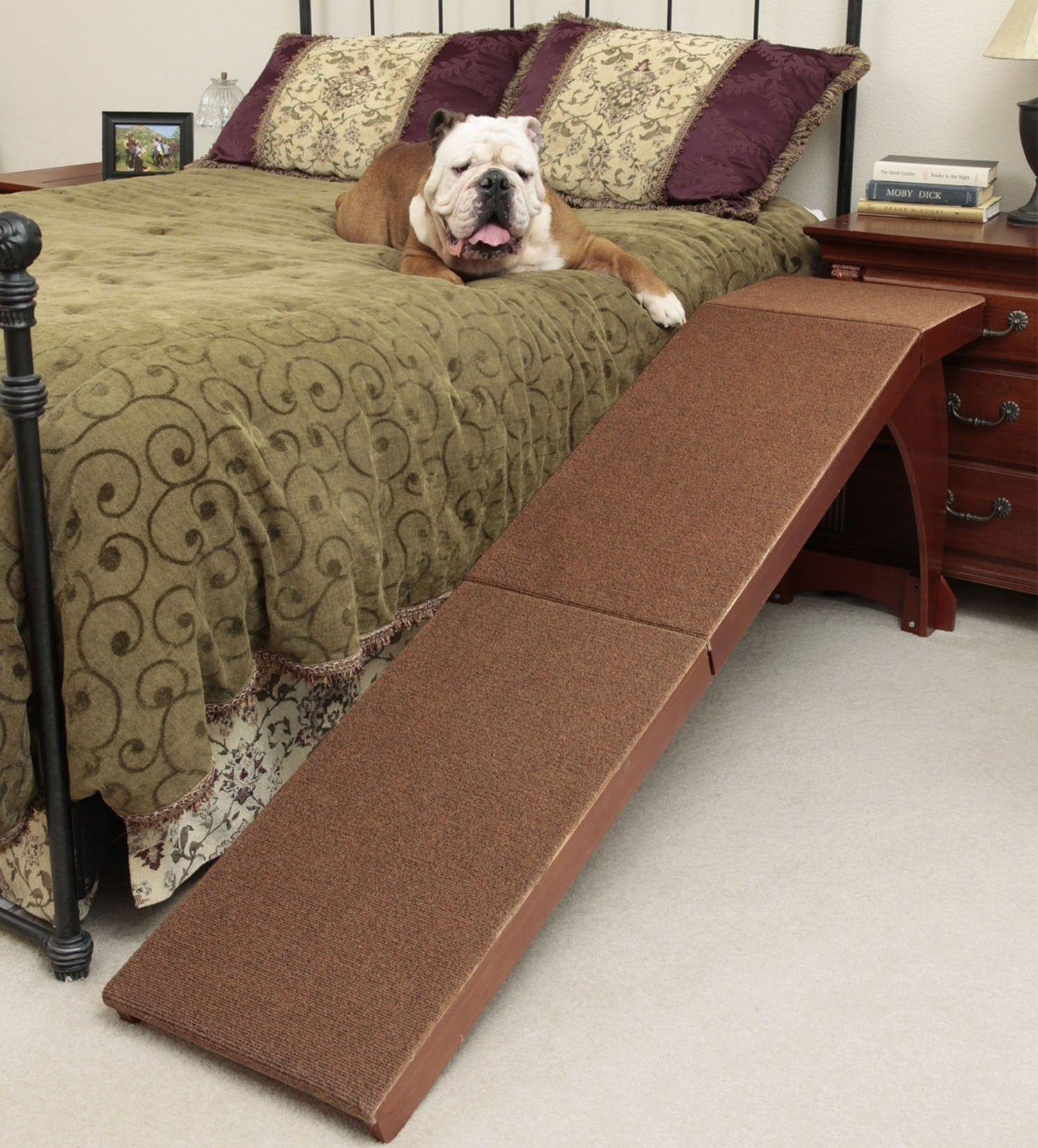 Indoor Dog Ramp Made of Oak Wood Furniture Wooden Pet Ramp for Bed
